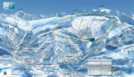 Mapa lyžařského střediska Grand Masiff