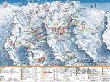 Mapa lyžařského střediska Gressoney-Saint-Jean