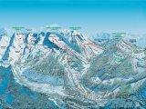 Mapa lyžařského střediska La Clusaz