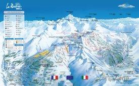Mapa lyžařského střediska La Rosière