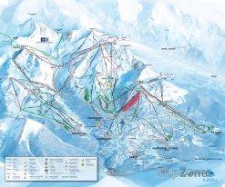 Mapa lyžařského střediska La Tania