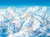 Mapa lyžařského střediska Le Corbier