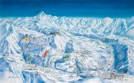 Mapa lyžařského střediska Le Grand-Bornand