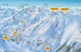 Mapa lyžařského střediska Luz Ardiden