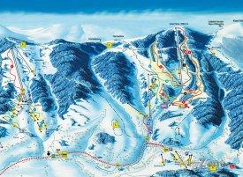 Mapa lyžařského střediska Lysá hora