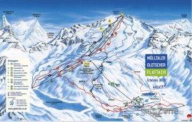 Mapa lyžařského střediska Mallnitz-Ankogel