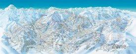 Mapa lyžařského střediska Megève