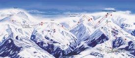 Mapa lyžařského střediska Montecampione