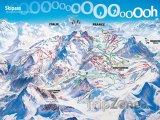 Mapa lyžařského střediska Montgenèvre