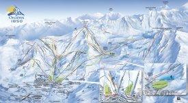 Mapa lyžařského střediska Orcières 1850