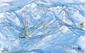 Mapa lyžařského střediska Orelle
