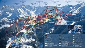 Mapa lyžařského střediska Pila