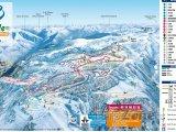 Mapa lyžařského střediska Plateau de Beille