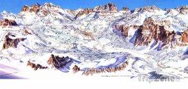 Mapa lyžařského střediska Pocol