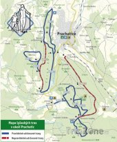 Mapa lyžařského střediska Prachatice - Libínské Sedlo
