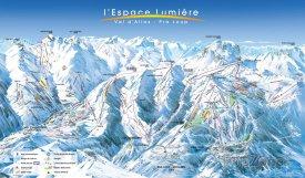 Mapa lyžařského střediska Praloup