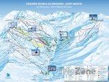 Mapa lyžařského střediska Saint Martin de Belleville