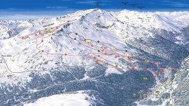 Mapa lyžařského střediska Santa Caterina