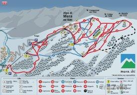 Mapa lyžařského střediska Scopello-Alpe di Mera