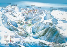 Mapa lyžařského střediska Super Besse