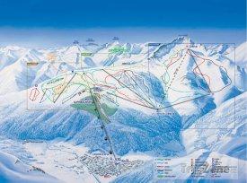 Mapa lyžařského střediska Superbagnères