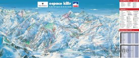 Mapa lyžařského střediska Tignes