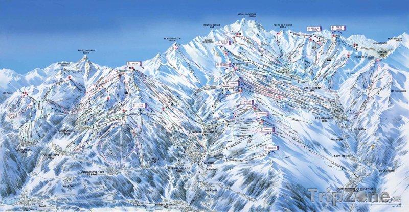 Fotka, Foto Mapa lyžařského střediska Tři údolí