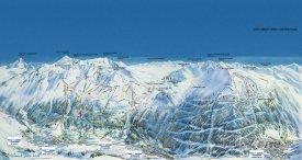 Mapa lyžařského střediska Val Cenis