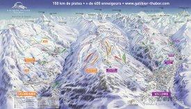 Mapa lyžařského střediska Valloire