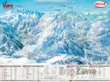 Mapa lyžařského střediska Vars
