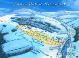 Mapa lyžařského střediska Vrchlabí