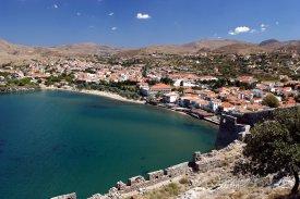 Městečko Myrina na ostrově Limnos