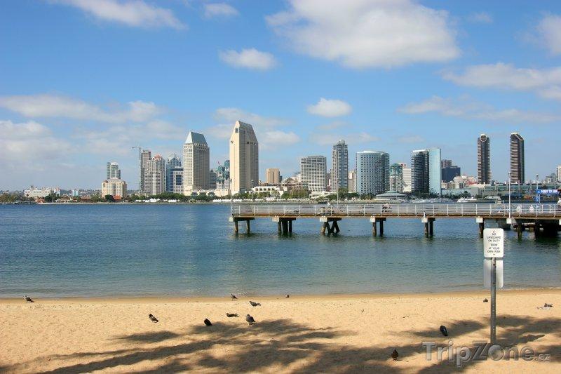 Fotka, Foto Molo u pláže (San Diego, USA)