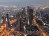 Mrakodrapy okolo ulice Sheikh Zayed Road