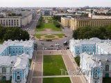 Náměstí Rastrelli před Smolného katedrálou
