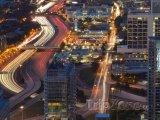 Noční provoz na dálnici Interstate 85