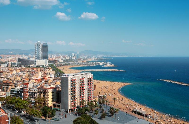 Fotka, Foto Panorama barcelonského pobřeží (Barcelona, Španělsko)