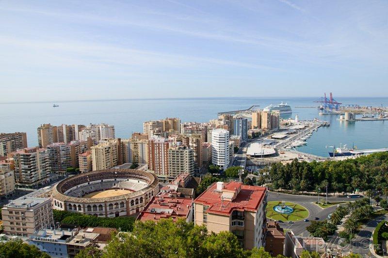 Fotka, Foto Panorama Málagy (Španělsko)