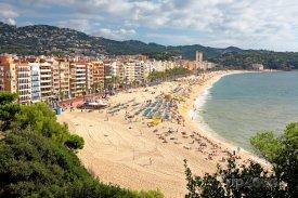 Pláž ve městě Lloret de Mar