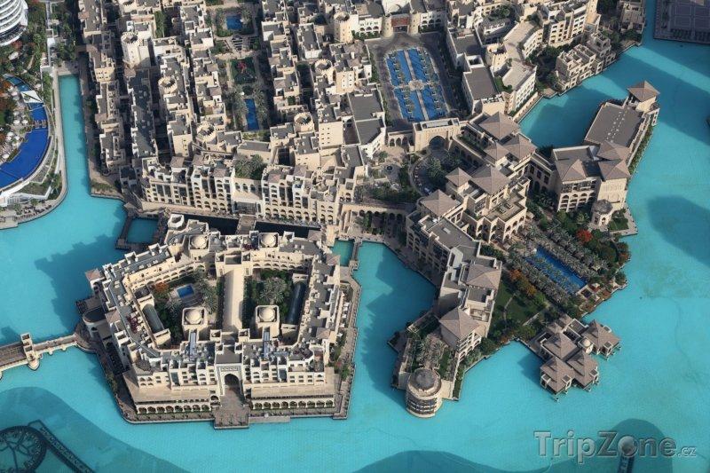 Fotka, Foto Pohled na centrum města z Burdž Chalífy (Dubaj, Spojené arabské emiráty)