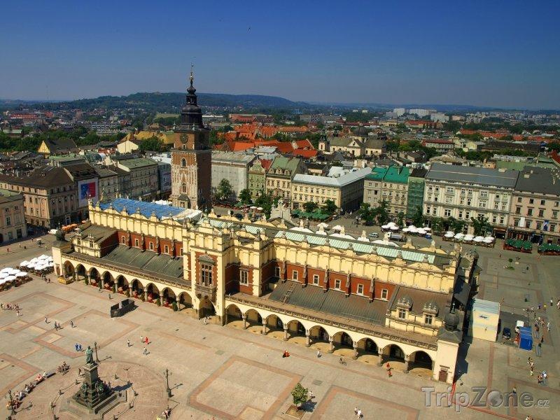 Fotka, Foto Pohled na Hlavní náměstí v Krakově (Polsko)