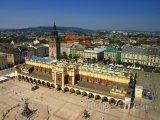 Pohled na Hlavní náměstí v Krakově