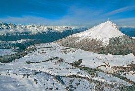Pohled na lyžařský areál Monte-Bondone