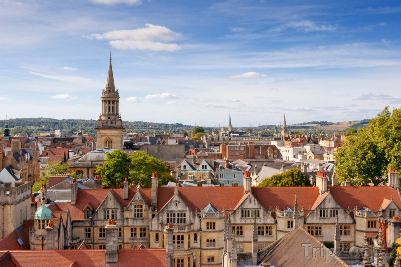 Fotka, Foto Pohled na město Oxford (Velká Británie)