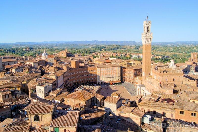 Fotka, Foto Siena, náměstí il Campo (Itálie)