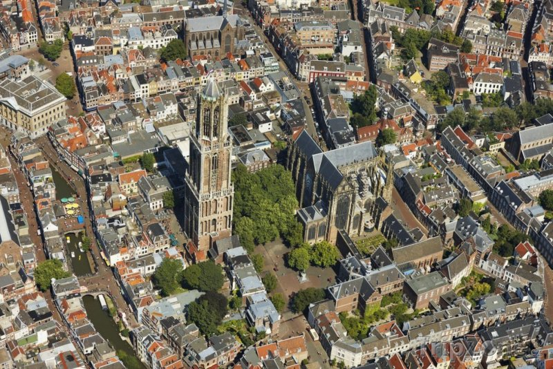 Fotka, Foto Utrecht, pohled na věž Domtoren (Nizozemsko)