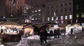 Vánoční trh v polském Krakově