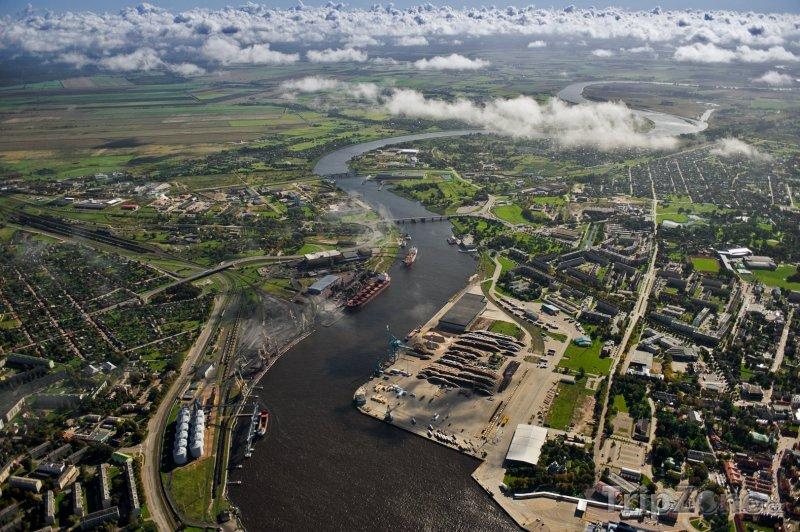 Fotka, Foto Ventspils panorama (Lotyšsko)