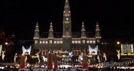 Vídeň, vánoční trh na Radničním náměstí