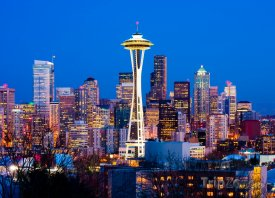 Centrum Seattlu v noci